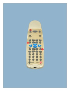 "DVD Remote Control Pigment ink print 22""h x 17""w 2009"