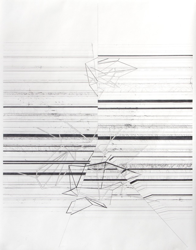 DD102713 Graphite on paper 36 x 28 inches 2013