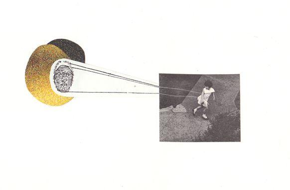 "Follow Me, Collage, 4"" x 6"", 2013"