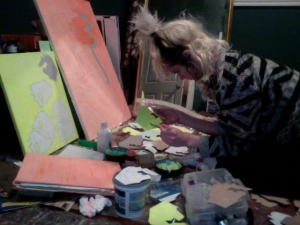 Erin Smego in her studio