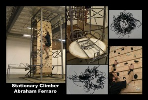 Stationary Climber Postcard