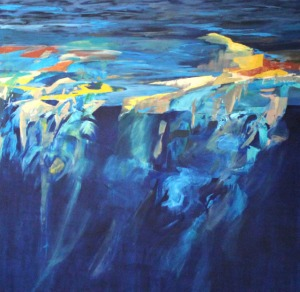 Convergence, 6' x 6', oil on canvas, 2012