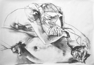Study for Aureole_2013_charcoal on paper_42x60 inches