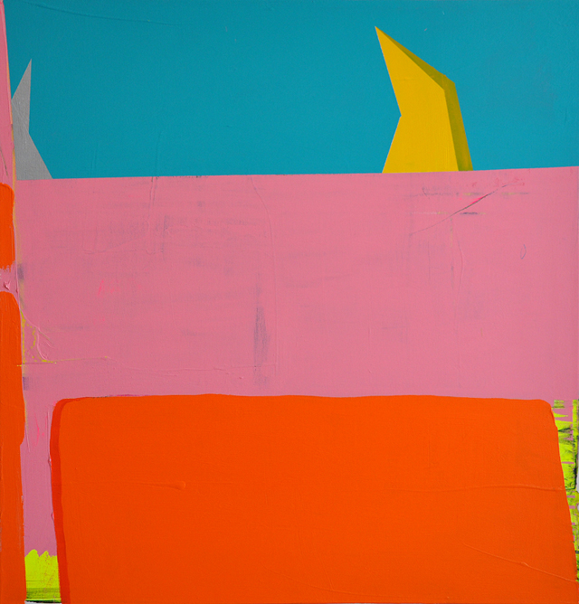 Pink Ant Man, 2014, acrylic on canvas, 50x48 in.