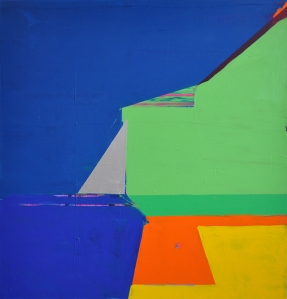 Bobbie's Bluing, 2014, acrylic on canvas, 50x48 in.