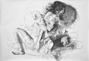 Untitlted (Study)_2013_charcoal on paper_42x60 inches