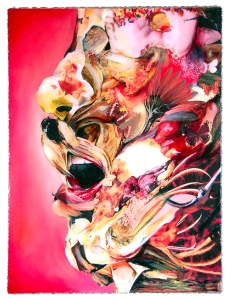 """You Eat What You Are Oil and Mixed Media on Panel 24""""x 18"""" 2013"""