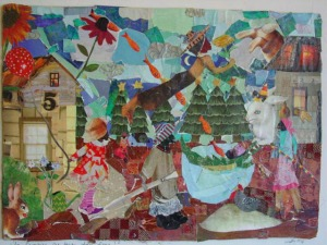 Git Em Bunnies Outta Here Ida Mae, 2010, Media Collage