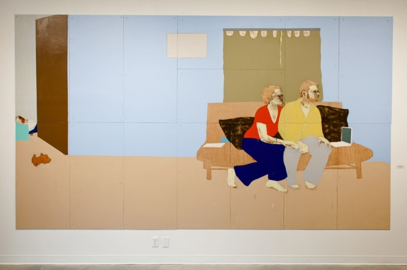 Thin Walls: Sudden Silence Medium: Acrylic, Wood Panel Size: 8' x 14' Date: 2012