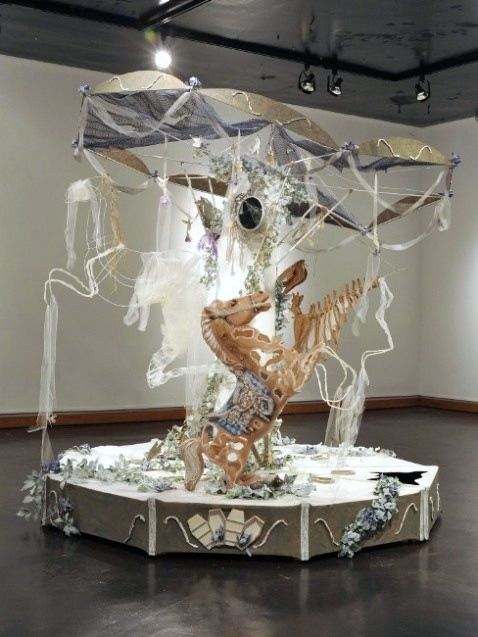 Carousoul. Paper Mache, Wood, Steel, Found Objects, Mixed-Media. 7' x 7' x 7'. 2013
