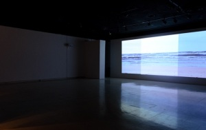 """The Sea: Between Speech and Language"", 2500 square feet, video and audio installation, 2012"