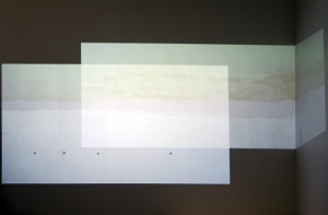 """Interior Horizon"", 7'x3', video and audio installation, 2013"