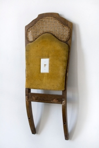 High Roller, modified chair and light switch, 2011