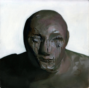 Homunculus 4, oil on board, 8 x 8 inches, 2014