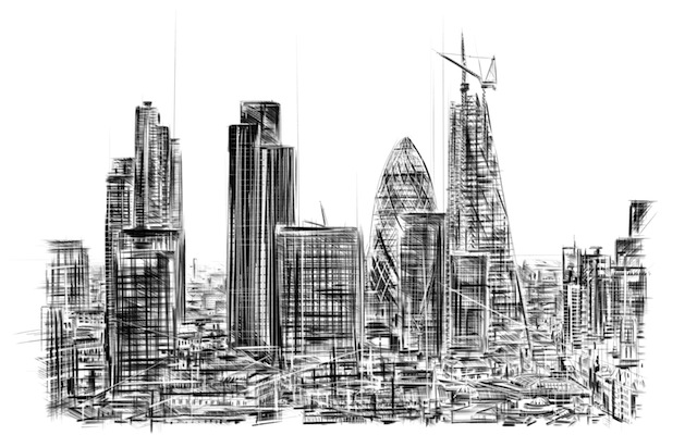 City of London Mile. iPad drawing. 2014
