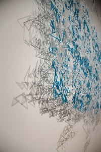 a detailed shot of my most recent sculpture/installation, Impatience (2013), acrylic plastic, 5ft x 4ft