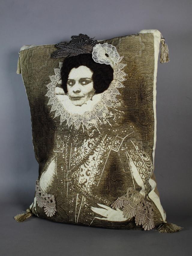Jennifer Montgomery, Scott County, Tennessee., photo lithography on sewn fabric, mixed media, 2012