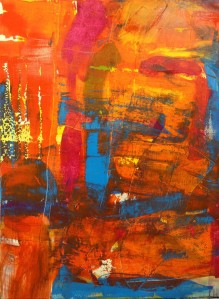 Untitled Abstract 16, Acrylic on Canvas, 36 in x 48 in, 2013