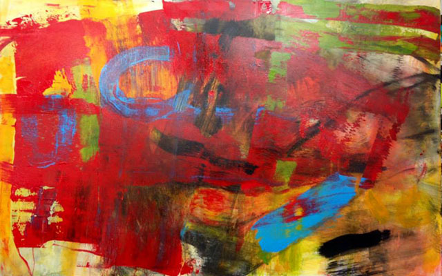 Untitled Abstract 65, Acrylic on Infrastructure Canvas, 84 in x 54in, 2013