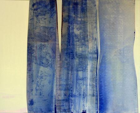 """Untitled Blue "", Acrylic on linen, 48""x 60""  2013"