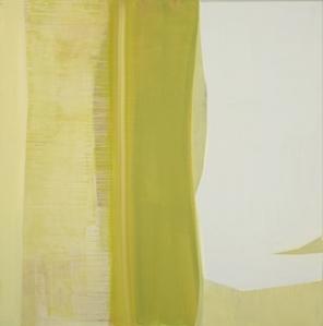 """""""Yellow Weave"""" Acrylic on linen, 48""""x48"""", 2012"""