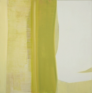 """Yellow Weave"" Acrylic on linen, 48""x48"", 2012"