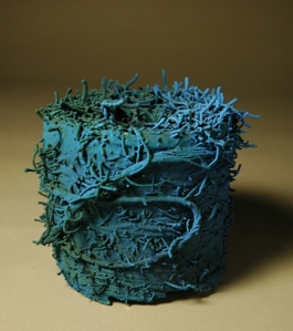 "Metamorphosis/ Furry Blue Monster, 2008, Ceramic, 7"" x 6"" x 6"""