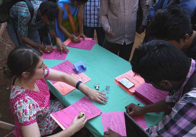 Certifying the Truth, Bilingual and Interactive Performance at the Sir JJ School of Art, Mumbai, 2013