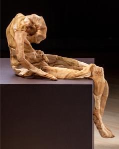 "MAL Figure No. 1, hand-dyed silk organza, 18"" x 8"" x 4"", 2012"