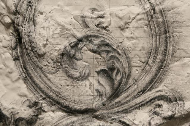 Untitled (Brooklyn) Detail 59''x 45'' Mixed-Media on Paper 2013