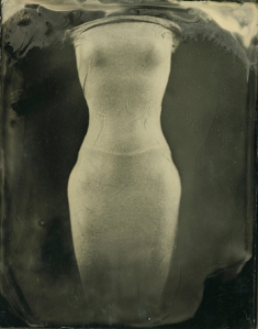 """The Venus Series: Figure #1"", 2010, ambrotype (wet plate collodion on black glass), 3.25""x4"""