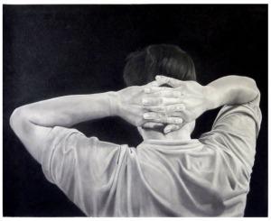 """Untitled (Custody)"", 2010, gunpowder & graphite on paper, 40"" x 50"""