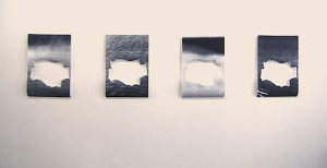 """Four Waterscapes"" (installation, 4 posters) each poster 24x36"" 2014"