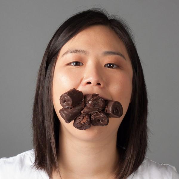 "Chubby Ho, series of five digital prints, 12"" x 12"", 2014"