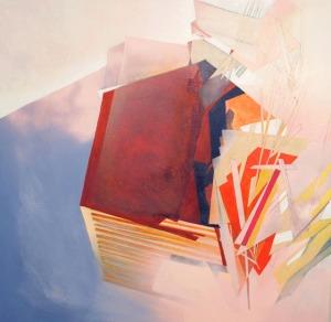 """.0001, acrylic and spray paint on canvas, 36"""" x 36,"""" 2014"""