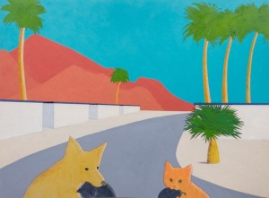 """Welcome Wagon"", acrylic on paper, 22"" x 30"" , 2014"