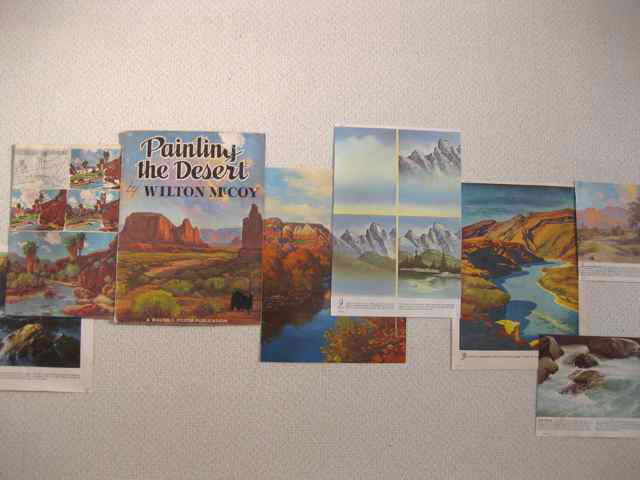 detail image os of Walter Foster Mountain Range, Walter Foster book pages, tape on wall, dims vary, 2009