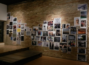 Installation view: SUGAR IS COMBUSTIBLE: BCC MKE Photo Diary 1989-2012 Photo installation, 17 x 30 feet Milwaukee Gay Arts Center, 2012