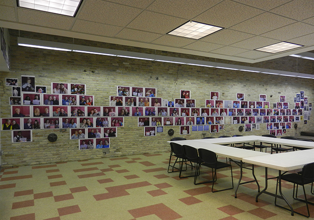 Installation view: Xeno:Mke 2013-2023 Photo installation, 12 x 120 feet MKE LGBT Community Center, Milwaukee, 2013