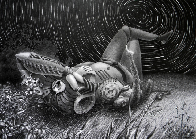 meteor shower_graphite_55x70cm_2013