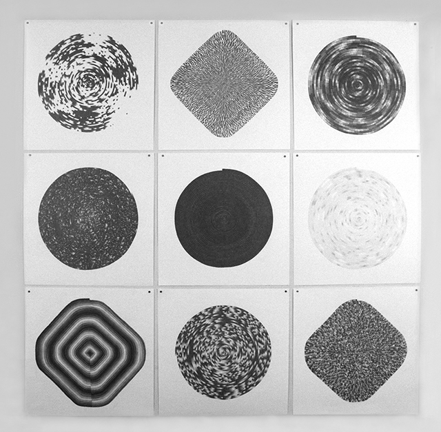 9 of 25 Circles and Diamonds, graphite on paper, 2012 – ongoing