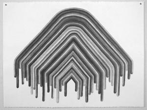 Arrow, graphite on paper, 2013