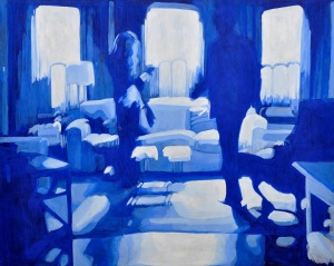"Therapy No. 9 (Safe Passage) Acrylic on Canvas 48"" x 60""  2011"