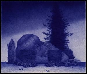 "Untitled  Ballpoint Pen on Paper 14.4"" x 17"" 2013"