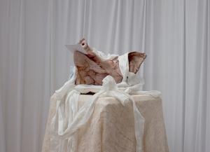 Title: The Pig Year: 2014 Medium: Dragon skin, RTV liquid rubber, plastic, acrylics Size: 10(h)x14(w)x12(d)
