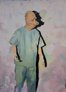 Title: The Doctor Year: 2014 Medium: Oil on canvas Size: 26(w)x36(h)