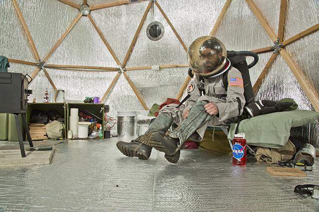 """Manned Mock Mars Mission""  Mixed Media/Performance Dimensions Variable 2014"