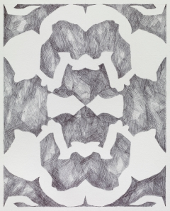 """Untitled (Reflection Series),"" Ink on Paper, 10 x 8 inches, 2013."