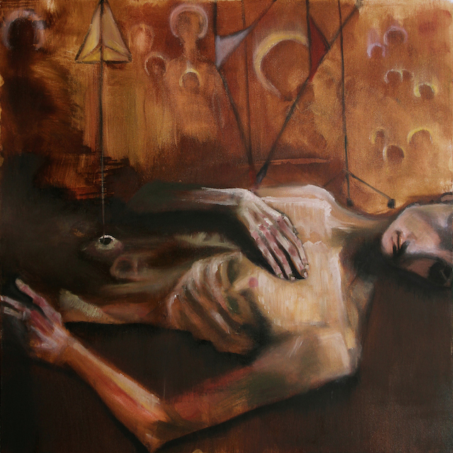 Auto-Immune. 36x36in. Oil on canvas