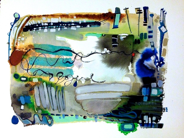 For John, Watercolor, 2014